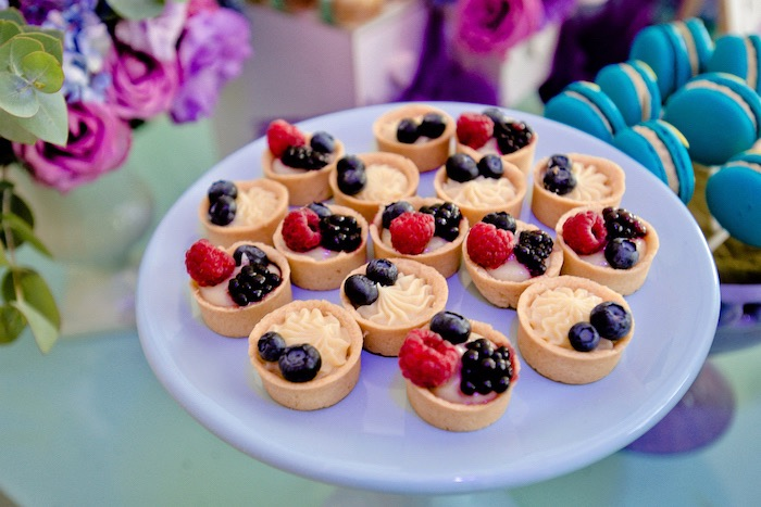 Fruit tarts from a Floral Hello Kitty Birthday Party on Kara's Party Ideas | KarasPartyIdeas.com (21)