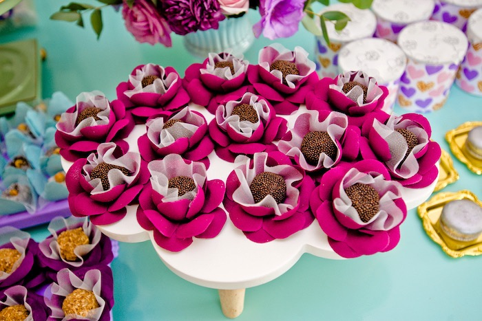 Brigadeiros from a Floral Hello Kitty Birthday Party on Kara's Party Ideas | KarasPartyIdeas.com (18)