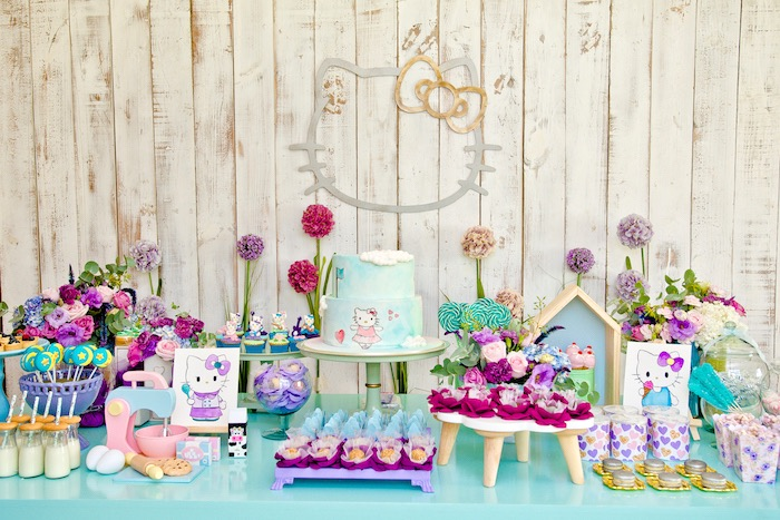 Floral Hello Kitty Birthday Party on Kara's Party Ideas | KarasPartyIdeas.com (35)