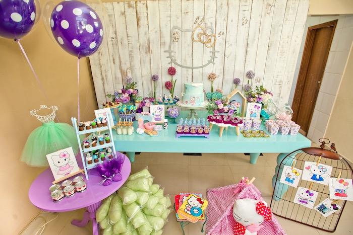 Karas Party Ideas Floral Hello Kitty Birthday Party Karas Party