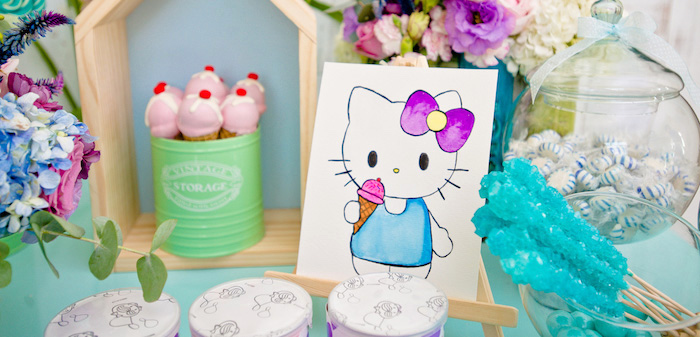 Floral Hello Kitty Birthday Party on Kara's Party Ideas | KarasPartyIdeas.com (4)