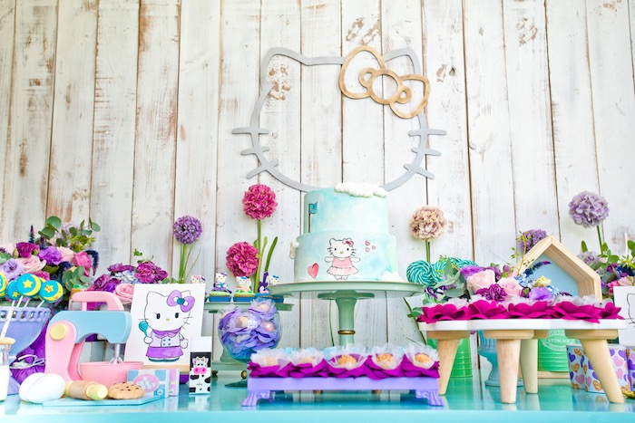 Karas Party Ideas Floral Hello Kitty Birthday