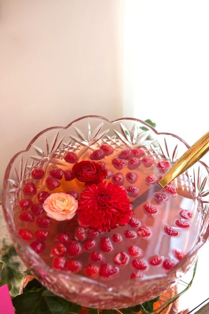 Punch bowl from a Floral Minnie Mouse Birthday Party on Kara's Party Ideas | KarasPartyIdeas.com (21)