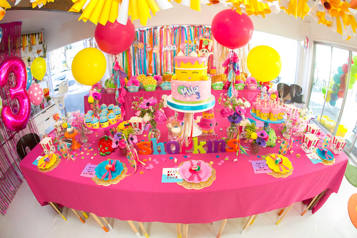 Karas Party Ideas Floral Shopkins Birthday Party