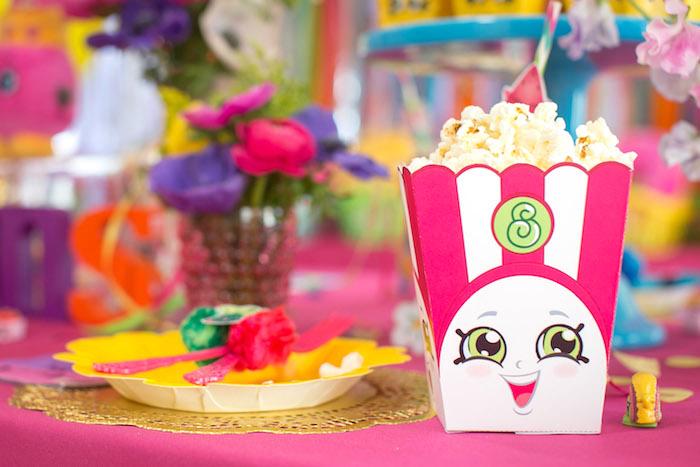 Poppy Corn Popcorn From A Floral Shopkins Birthday Party On Karas Ideas