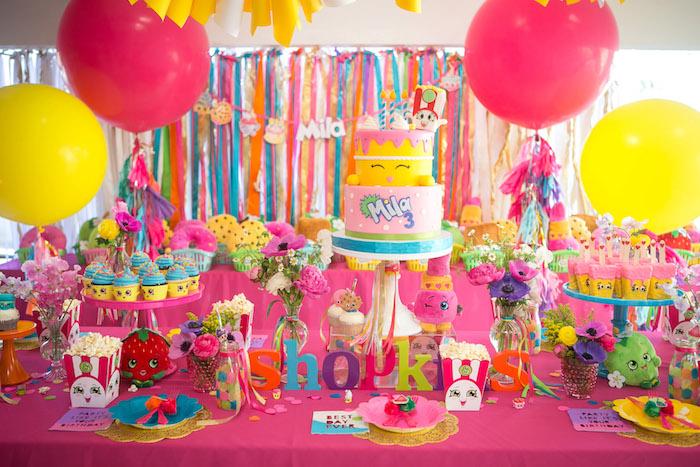 Floral Shopkins Birthday Party on Kara's Party Ideas | KarasPartyIdeas.com (15)