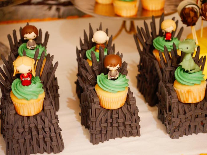 Game of Thrones Cupcakes from a Game of Thrones Birthday Party on Kara's Party Ideas | KarasPartyIdeas.com (14)