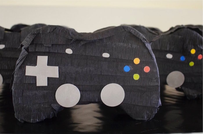 X-Box controller pinata from a Gaming + Video Gamer Birthday Party on Kara's Party Ideas | KarasPartyIdeas.com (8)