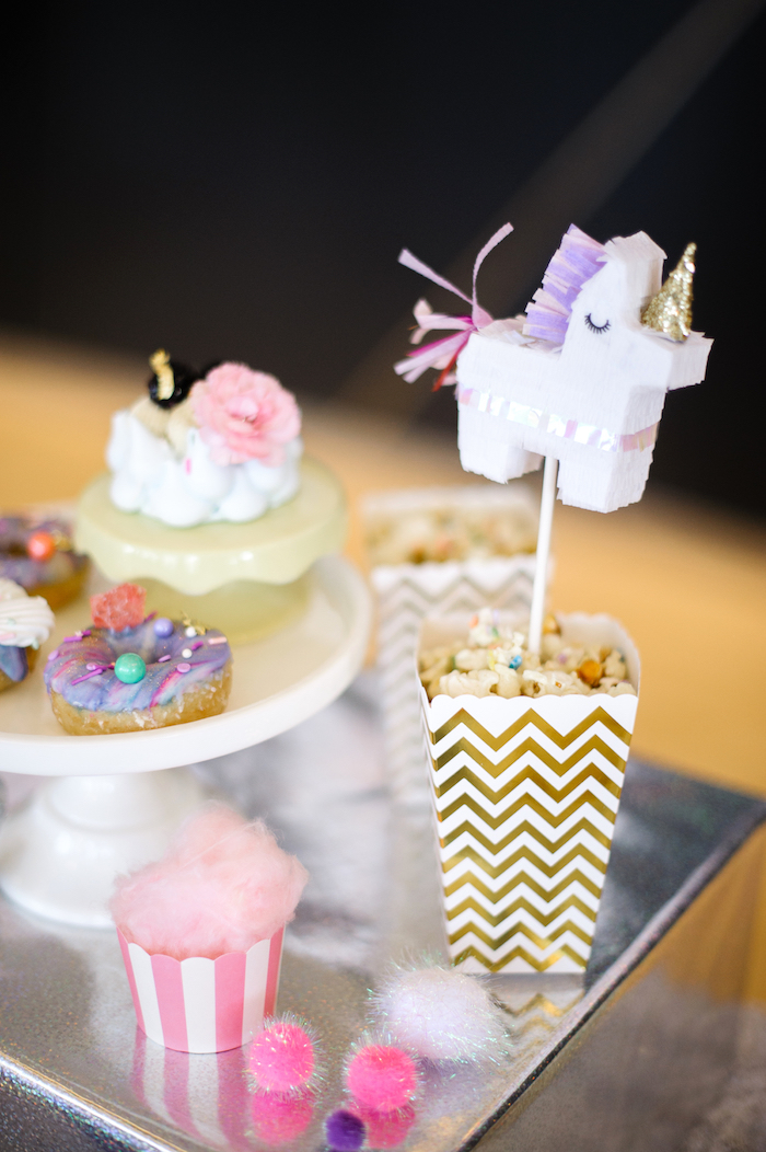 Sweets + snacks from a Geometrical Magical Unicorn Party on Kara's Party Ideas | KarasPartyIdeas.com (20)