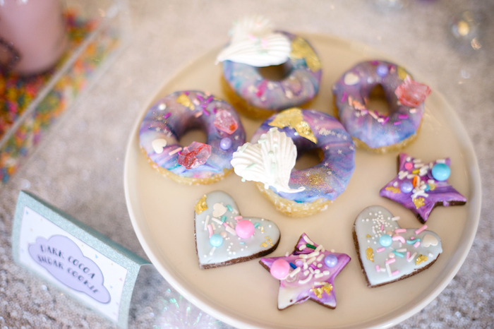 Cookies and doughnuts from a Geometrical Magical Unicorn Party on Kara's Party Ideas | KarasPartyIdeas.com (25)