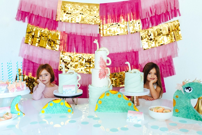 Girly Glam Loch Ness Monster Birthday Party on Kara's Party Ideas | KarasPartyIdeas.com (19)