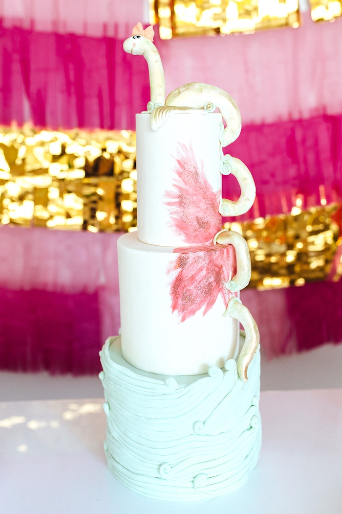 Kara S Party Ideas Girly Glam Loch Ness Monster Birthday
