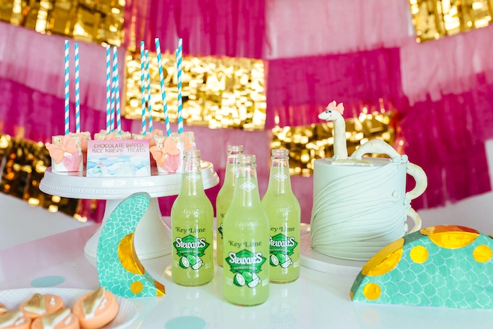 Party details from a Girly Glam Loch Ness Monster Birthday Party on Kara's Party Ideas | KarasPartyIdeas.com (9)