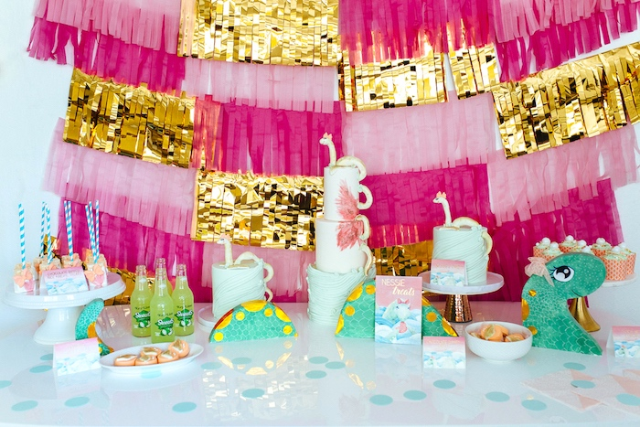 Girly Glam Loch Ness Monster Birthday Party on Kara's Party Ideas | KarasPartyIdeas.com (8)