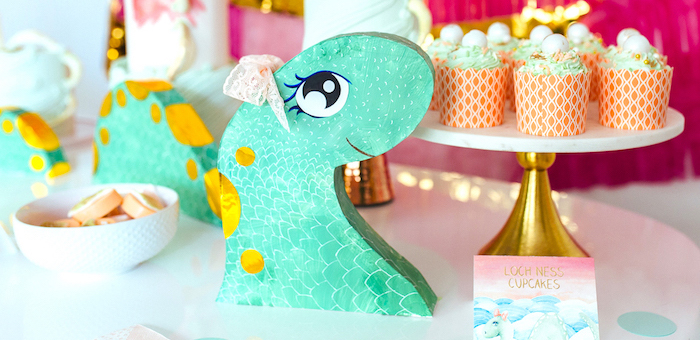 Girly Glam Loch Ness Monster Birthday Party on Kara's Party Ideas | KarasPartyIdeas.com (2)