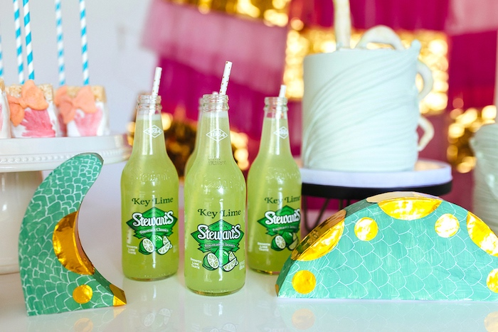 Key Lime Soda from a Girly Glam Loch Ness Monster Birthday Party on Kara's Party Ideas | KarasPartyIdeas.com (25)