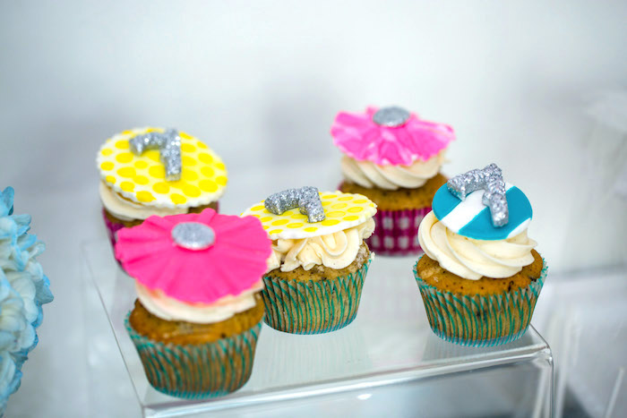 Cupcakes from a Glam Carnival Birthday Party on Kara's Party Ideas | KarasPartyIdeas.com (29)