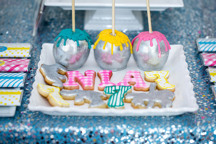 Cookies and cake pops from a Glam Carnival Birthday Party on Kara's Party Ideas | KarasPartyIdeas.com (28)