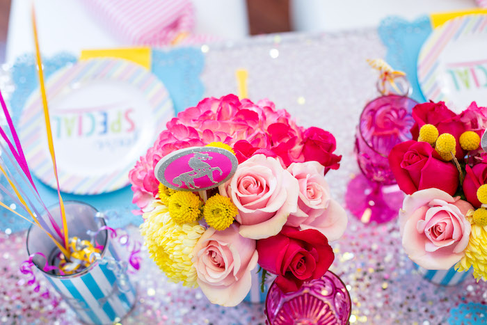 Blooms from a Glam Carnival Birthday Party on Kara's Party Ideas | KarasPartyIdeas.com (15)