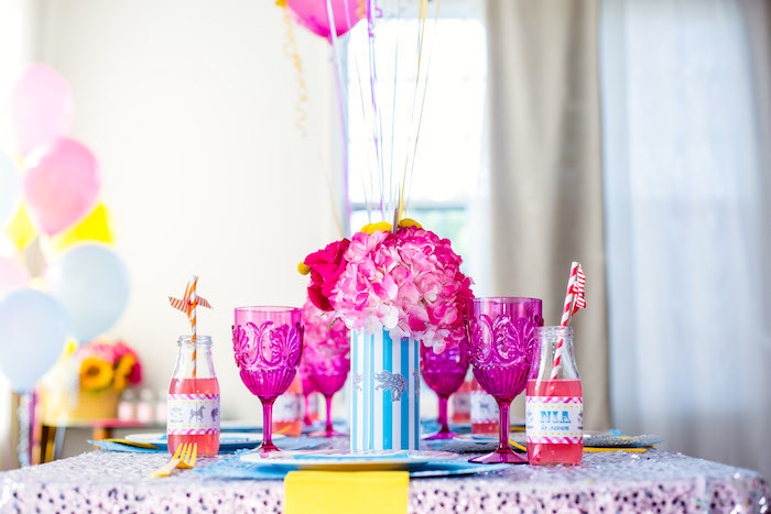 Guest table from a Glam Carnival Birthday Party on Kara's Party Ideas | KarasPartyIdeas.com (13)