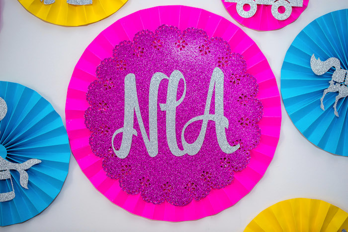 Paper fan rosette from a Glam Carnival Birthday Party on Kara's Party Ideas | KarasPartyIdeas.com (11)