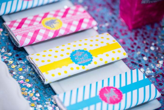 Chocolate/candy bars from a Glam Carnival Birthday Party on Kara's Party Ideas | KarasPartyIdeas.com (10)