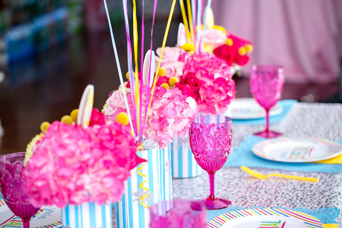 Blooms from a Glam Carnival Birthday Party on Kara's Party Ideas | KarasPartyIdeas.com (36)
