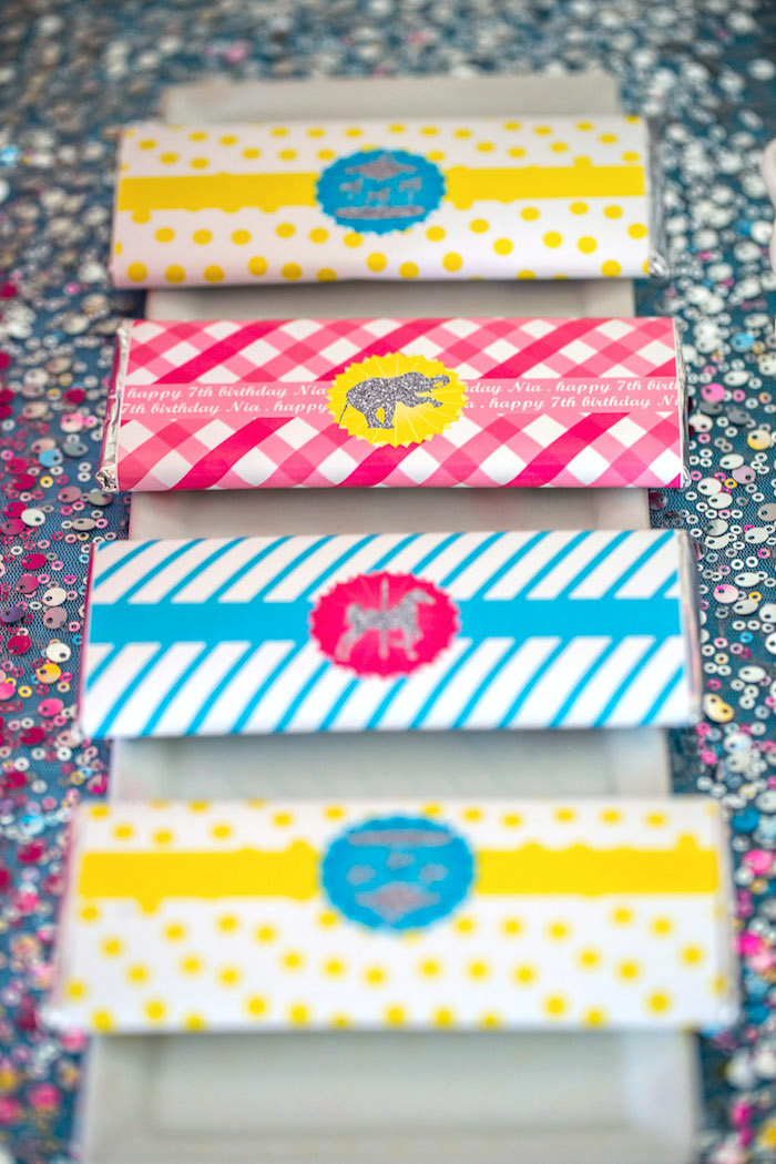 Chocolate bars from a Glam Carnival Birthday Party on Kara's Party Ideas | KarasPartyIdeas.com (35)