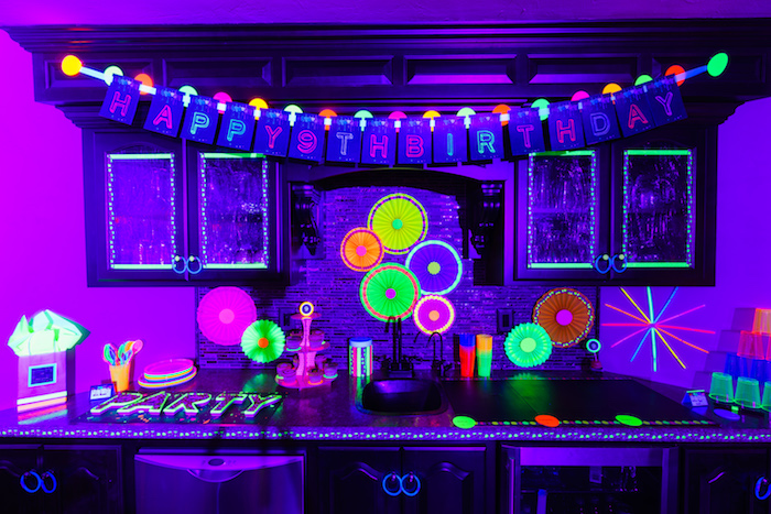 Decor from a Glow Dance Birthday Party on Kara's Party Ideas | KarasPartyIdeas.com (41)