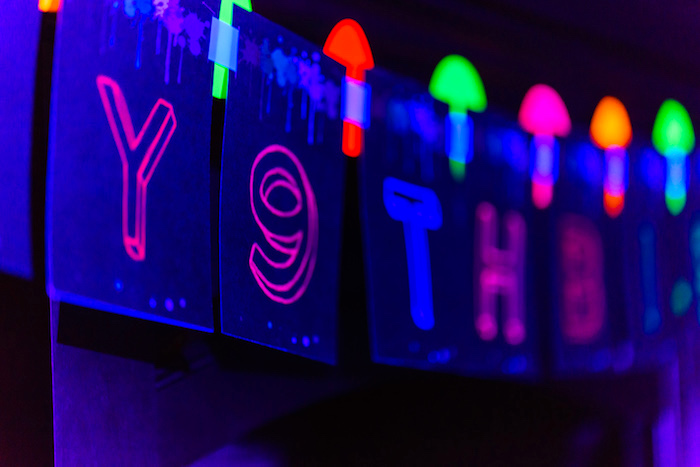 Banner from a Glow Dance Birthday Party on Kara's Party Ideas   KarasPartyIdeas.com (31)