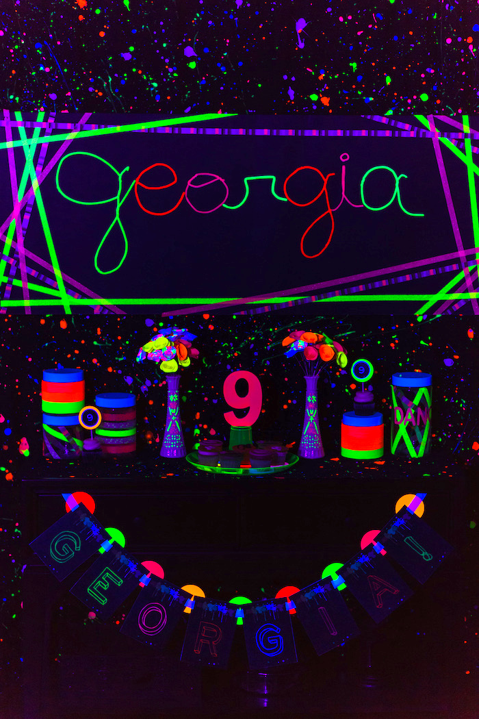 Glow Dance Birthday Party on Kara's Party Ideas | KarasPartyIdeas.com (28)