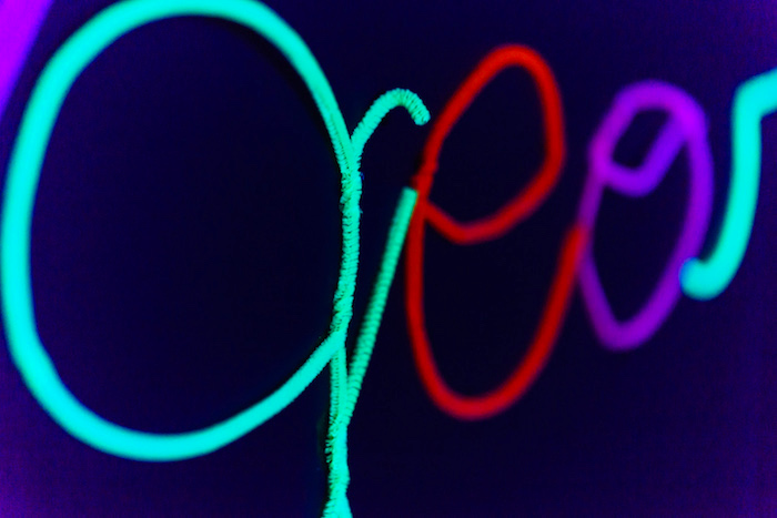 Pipe cleaner name banner from a Glow Dance Birthday Party on Kara's Party Ideas   KarasPartyIdeas.com (23)