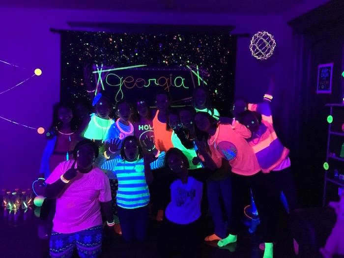 Kara S Party Ideas Glow Dance Birthday Party Kara S