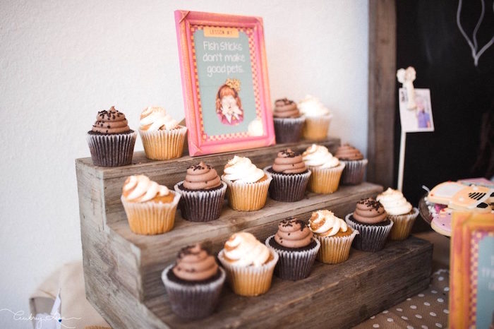 Cupcakes from a Junie B. Jones Inspired Birthday Party on Kara's Party Ideas | KarasPartyIdeas.com (17)