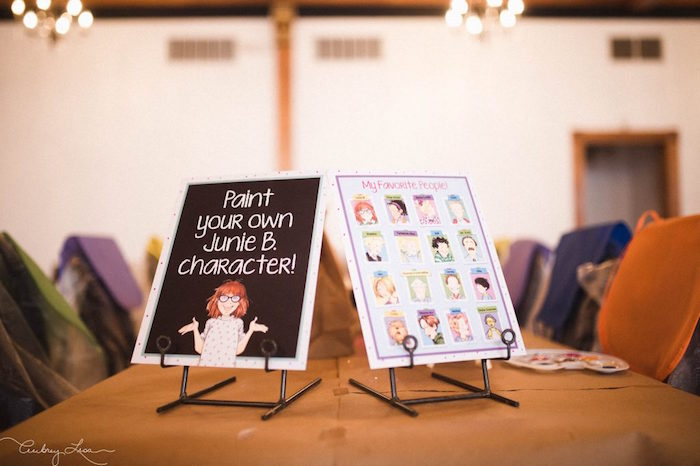 Painting table printables from a Junie B. Jones Inspired Birthday Party on Kara's Party Ideas | KarasPartyIdeas.com (12)