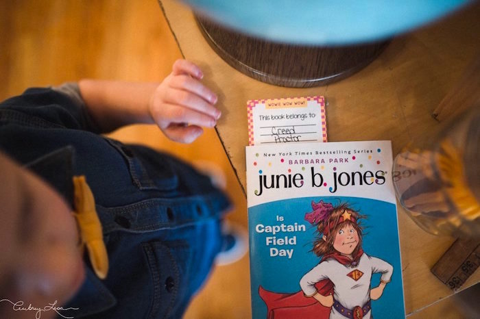 Favor book and bookmark from a Junie B. Jones Inspired Birthday Party on Kara's Party Ideas | KarasPartyIdeas.com (6)