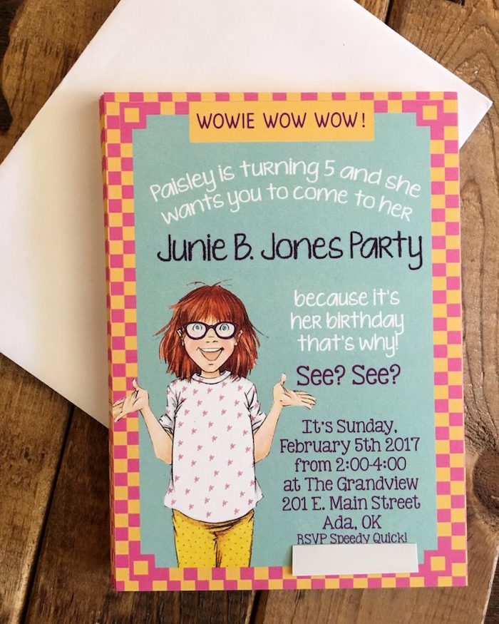 Junie B. Jones Party Invitation from a Junie B. Jones Inspired Birthday Party on Kara's Party Ideas | KarasPartyIdeas.com (5)