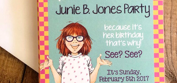 Junie B. Jones Inspired Birthday Party on Kara's Party Ideas | KarasPartyIdeas.com (3)