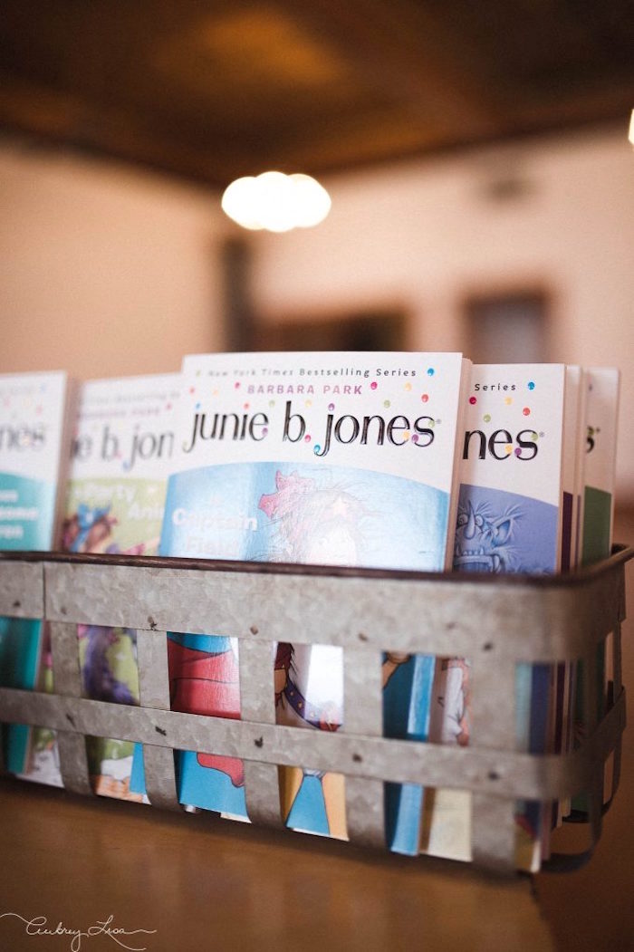 Junie B. Jones book favors from a Junie B. Jones Inspired Birthday Party on Kara's Party Ideas   KarasPartyIdeas.com (25)