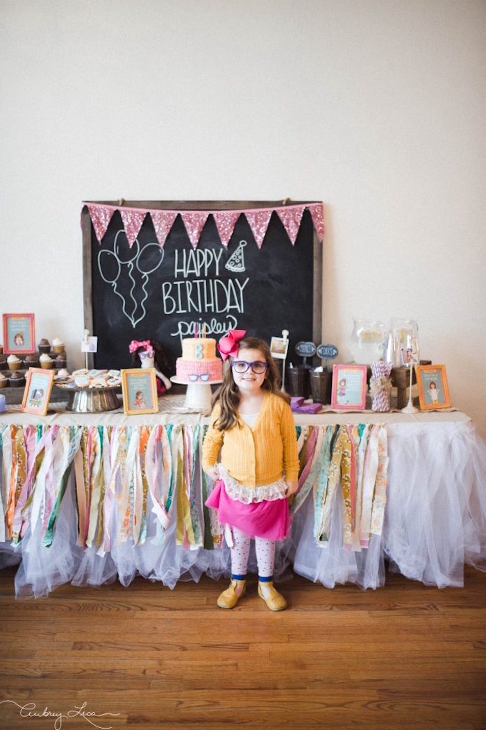 Dessert table from a Junie B. Jones Inspired Birthday Party on Kara's Party Ideas | KarasPartyIdeas.com (21)