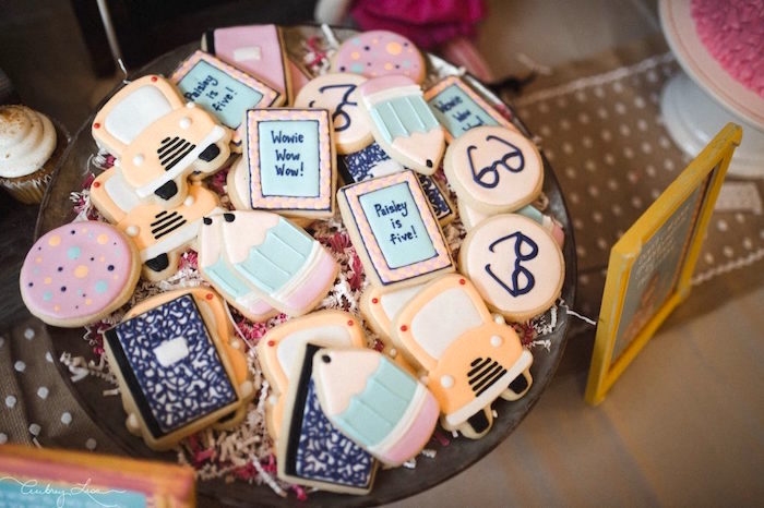 Scholastic Junie B. Jones cookies from a Junie B. Jones Inspired Birthday Party on Kara's Party Ideas | KarasPartyIdeas.com (19)