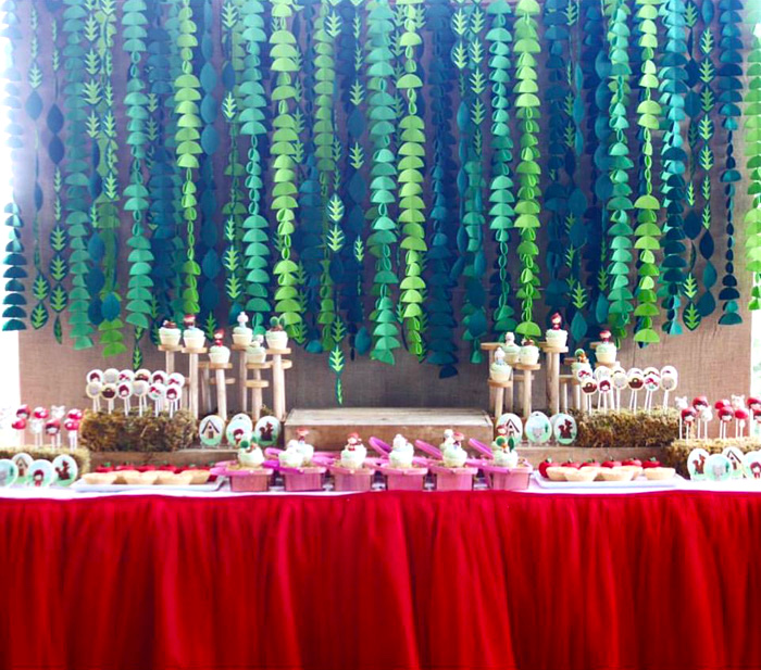 Dessert table from a Little Red Riding Hood Birthday Party on Kara's Party Ideas | KarasPartyIdeas.com (6)