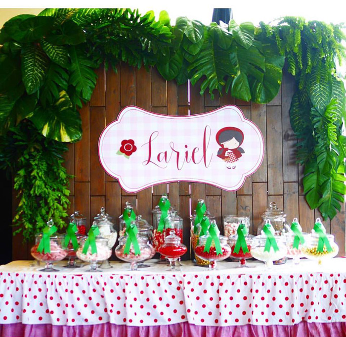 Candy buffet from a Little Red Riding Hood Birthday Party on Kara's Party Ideas | KarasPartyIdeas.com (15)