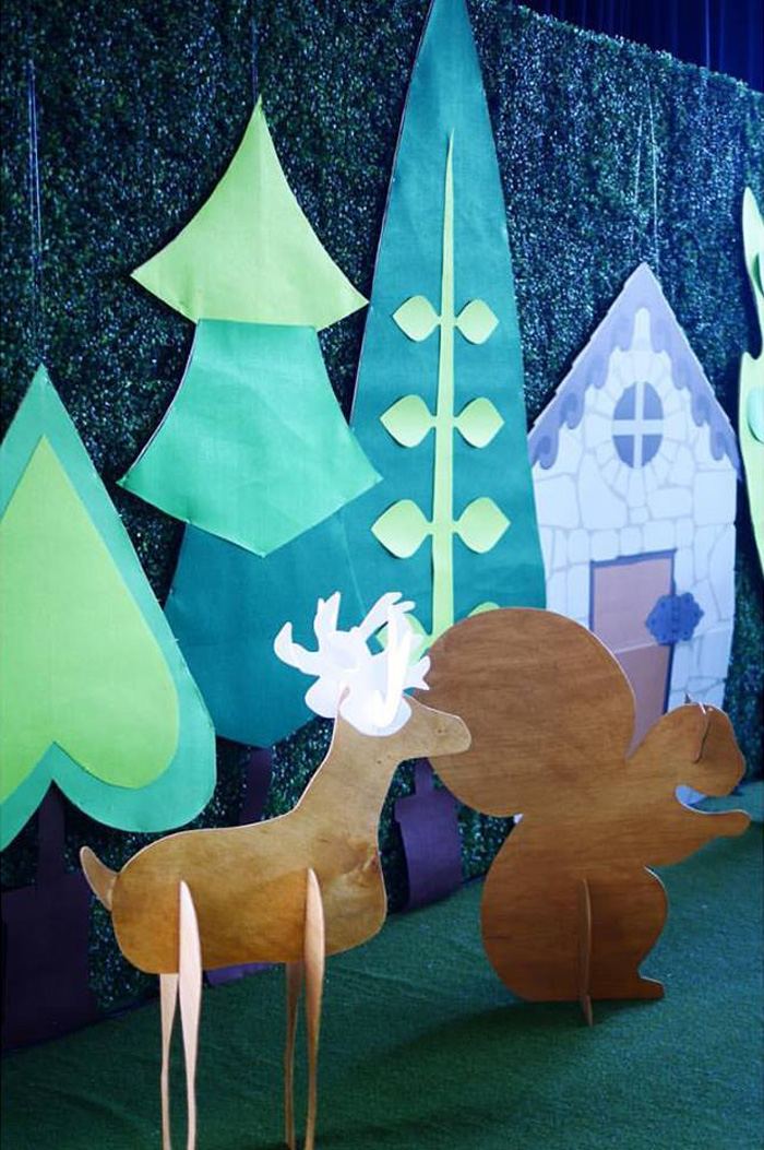 Backdrop from a Little Red Riding Hood Birthday Party on Kara's Party Ideas | KarasPartyIdeas.com (13)