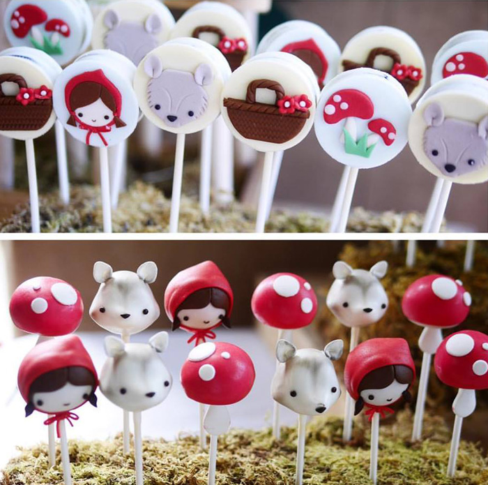 Chocolate covered Oreos and cake pops from a Little Red Riding Hood Birthday Party on Kara's Party Ideas | KarasPartyIdeas.com (10)