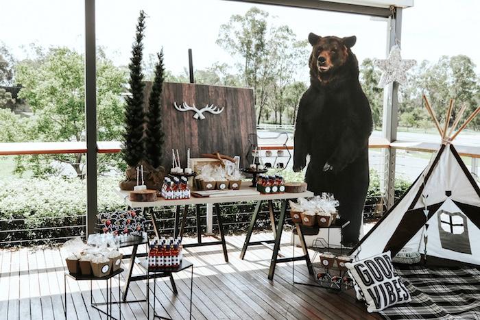 "Lumberjack + ""Wild ONE"" 1st Birthday Party on Kara's Party Ideas | KarasPartyIdeas.com (23)"