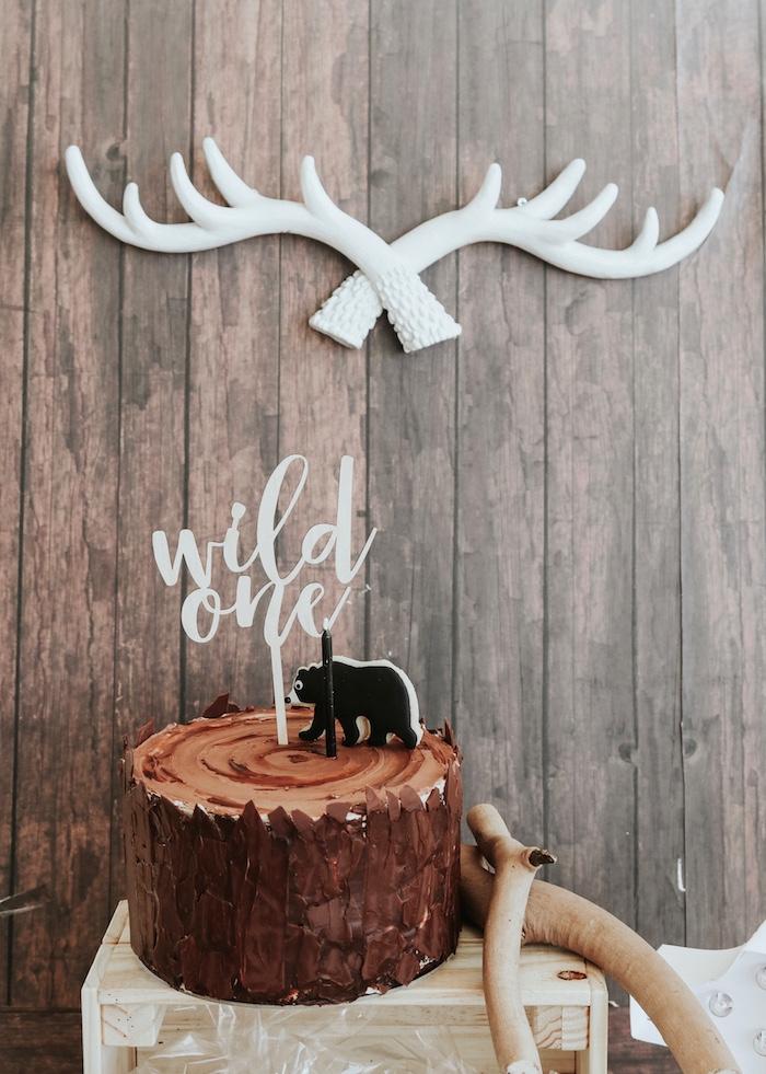 "Lumberjack + ""Wild ONE"" 1st Birthday Party on Kara's Party Ideas | KarasPartyIdeas.com (4)"
