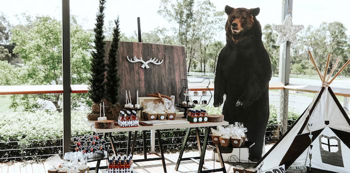 "Lumberjack + ""Wild ONE"" 1st Birthday Party on Kara's Party Ideas | KarasPartyIdeas.com (3)"
