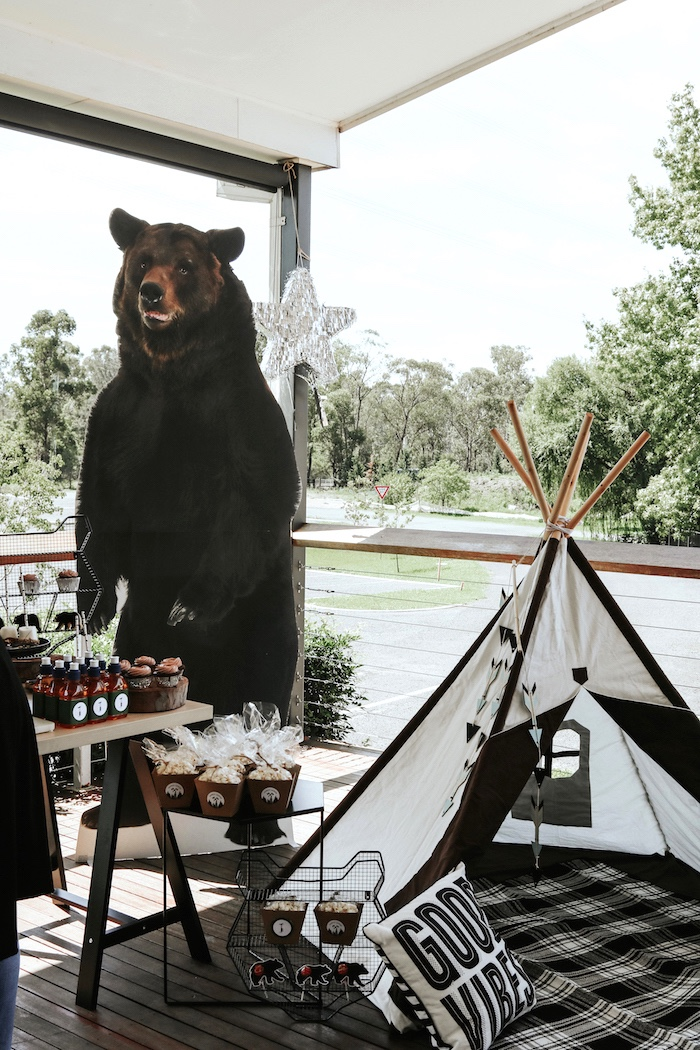 "Lumberjack + ""Wild ONE"" 1st Birthday Party on Kara's Party Ideas 