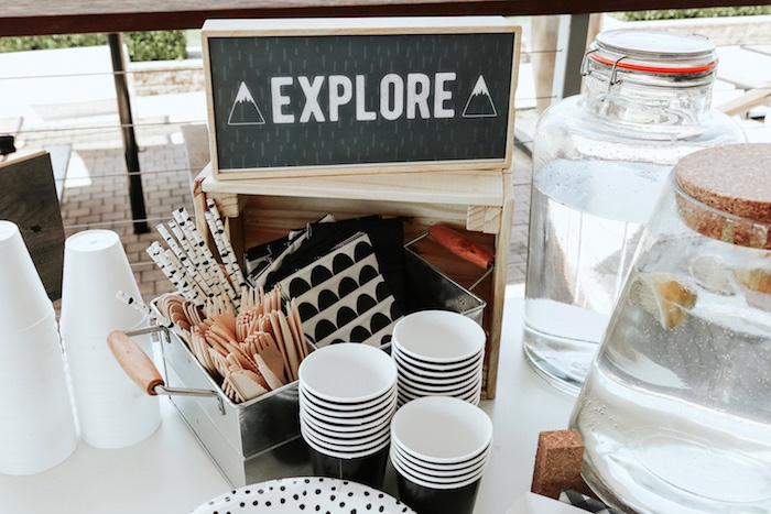 """Partyware from a Lumberjack + """"Wild ONE"""" 1st Birthday Party on Kara's Party Ideas 